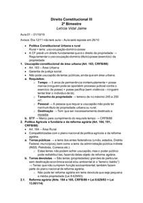 Apostila de Direito Constitucional III - 2 bimestre