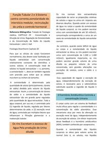 Função tubular 2 e 3::Sistema contra corrente,osmolaridade do interstício medular, recirculação da uréia e controle hormonal