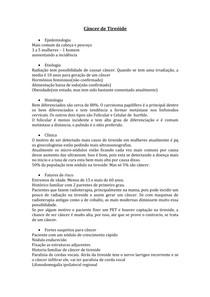Câncer de Tireóide - transcricao