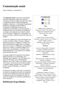 Comunicação social – Wikipédia  a enciclopédia livre