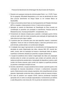 Protocolo de Atendimento Enfermagem para COVID-19