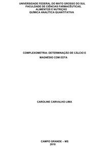 Relatório Complexometria