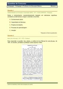 Pedagogia - Questões de Concursos Publicos - Modulo 3