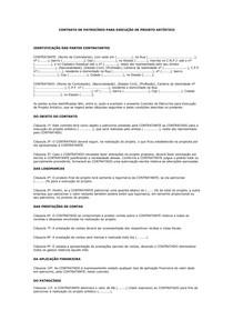 Modelo De Contrato De Patrocínio Para Execução De Projeto Artí