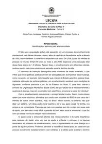 Apoio social: Identificação e estímulo para a terceira idade   Ciclo de Vida   Medicina   UFCSPA