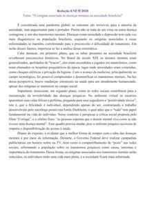 Redação ENEM 2020 Nota 940 Os estimas associados as denças mentais
