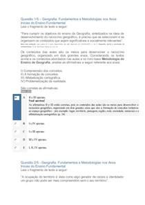 APOL Geografia Fundamentos e Metodologias nos Anos Inicias do Ensino Fundamental