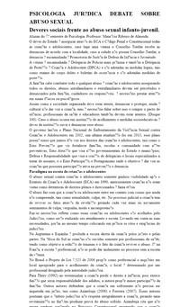 PSICOLOGIA JURÍDICA DEBATE SOBRE ABUSO SEXUAL
