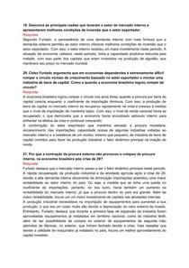 Respostas - Livro Formação Econômica do Brasil (Celso Furtado)