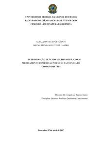 Determinação de AAS por meio da técnica de condutometria