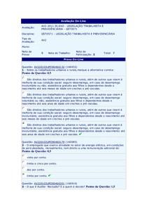 AV2 LEGISLAÇÃO TRAB -Cla