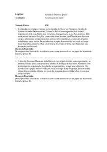 Seminário Interdisciplinar socialização paper