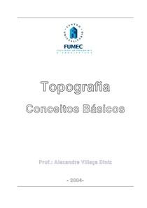 Conceitos Básicos de Topografia - prof. Alexandre V. Diniz