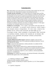 FARMACOLOGIA DA DOR  e OPIÓIDES