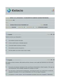 AV1 Panejamento de Carreira e Sucesso Profissional 2014-01M