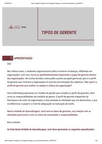 TIPOS DE GERENTE