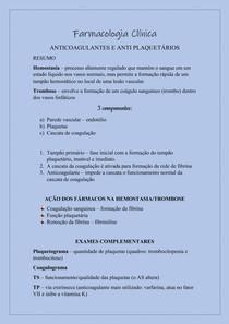 Farmacologia - Anticoagulantes