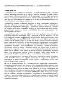 IMPORTÂNCIA DAS PLANTAS FORRAGEIRAS E SUA MORFOLOGIA