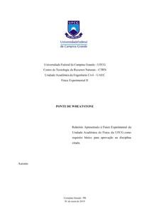 Relatório Física Experimental II - Pontes de Wheastone