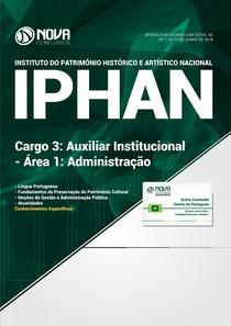 #Apostila IPHAN   Auxiliar Institucional   Administração (2018)   Novas Concursos