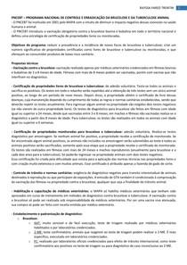 PNCEBT - PROGRAMA NACIONAL DE CONTROLE E ERRADICAÇÃO DA BRUCELOSE E DA TUBERCULOSE ANIMAL