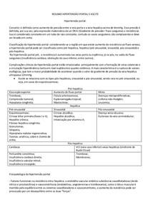 Resumo de Hipertensão Portal e Ascite