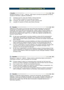 Avaliando Aprendizado - Direito Constitucional II
