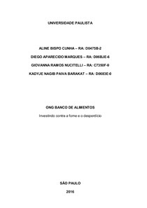 APS   ONG Banco de Alimentos COMPLETA 2º semestre