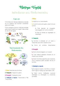 Resumo Intro a Fitohormônios - Biologia Vegetal