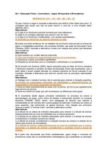 AV1 E AV2   JOGOS BRINQUEDOS E BRINCADEIRAS  COM ALTERNATIVAS