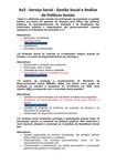 Av2   Serviço Social 6 semestre  Gestão Social e Análise de Políticas Sociais