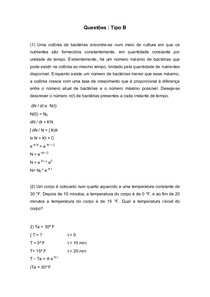 Aplicações de EDO  Cálculo 3