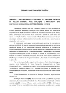 RESUMOS FISIO RESPIRATÓRIA; Parte: 2