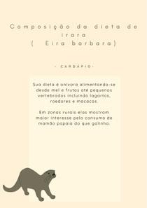 Irara ( Eira barbara) - Dieta