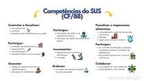 COMPETÊNCIAS DO SUS ESQUEMATIZADAS (CF/88)