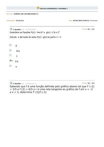 Avaliando Aprendizado Cálculo I