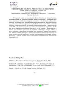 O Teorema de Bolzano-Weierstrass e Aplicações