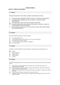 OFICINA LITERÁRIA - EXERCÍCIOS AULA 03