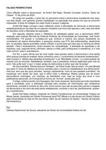 RESENHA- UMA REFLEXÃO SOBBRE A DEMOCRACIA