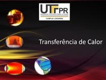 Transferencia de Calor, Conservação e Balanço de Energia