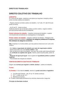 DIREITO DO TRABALHO II - DIREITO COLETIVO DO TRABALHO