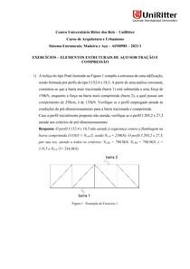 Lista de Exercícios - Elementos estruturais de aço sob Tração e Compressão_V2