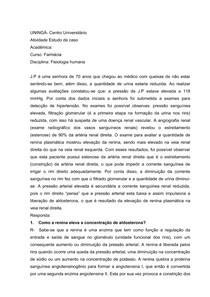 ESTUDO DE CASO FISIOLOGIA HUMANA