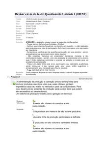 Administraçao de Prod e Operaçoes questionario unidade I