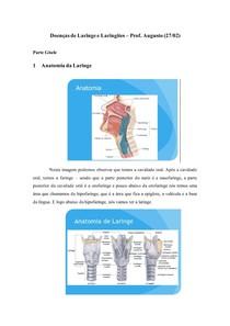 Doenças de Laringe e Laringites