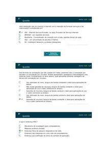 REDES DE COMPUTADORES Simulado AV 1