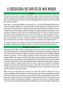A SOCIOLOGIA DO DIREITO DE MAX WEBER
