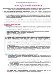 INTERAÇÃO MEDICAMENTOSA - AULA 2