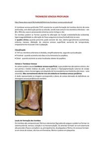 Trombose Venosa Profunda - Patologia + Radiologia