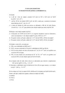 Lista de Exercícios 3 - MONITORIA FQE